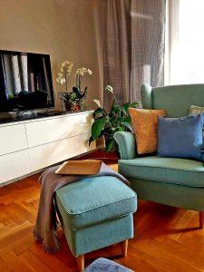 salon fotel stylizacja wnętrz kwiaty
