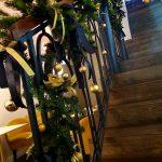 świąteczna dekoracja balustrady boże narodzenie