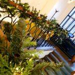 świąteczna dekoracja balustrady